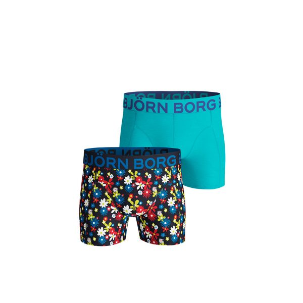 Bjorn-borg-flower-patterned-and-Sky-blue-front-view