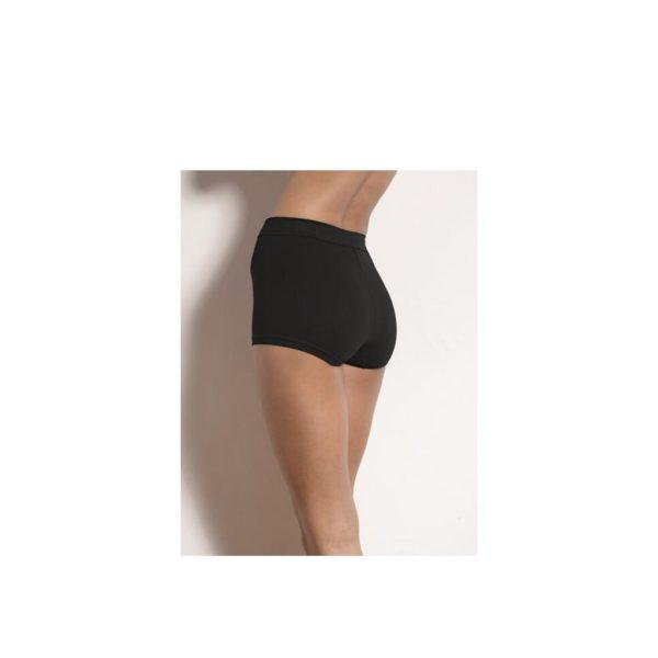Sloggi Dames Short300 Zwart Model Achterkant