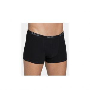 Sloggi-basic-shorts-black-front-view